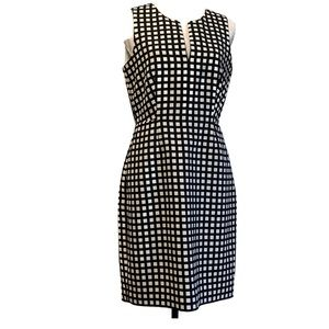 J CREW A LINE BLACK AND WHITE CHECKERED SKIRT